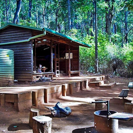The Seating Plan - The Gregory Brooke campsite after maintainence. Bibbulman Track WA.