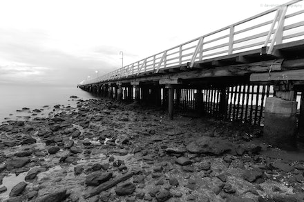 Shorncliffe Pier 1, QLD - A B & W taken just after sunrise.