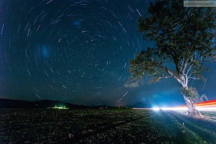 Stars and Light Trails 8, Scenic Rim, QLD - I went out for an overnight trip 02-03 Oct 13 to the Scenic Rim to specifically get some night shots away from...