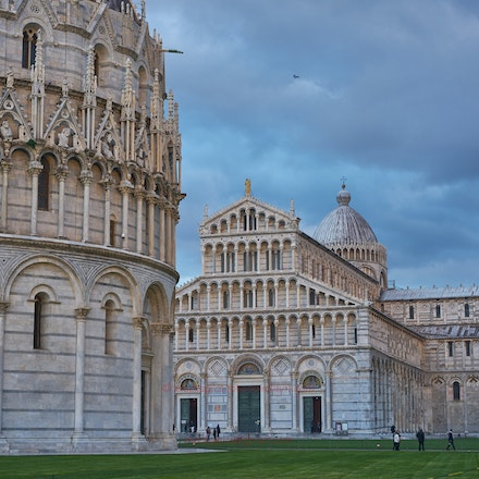 View of the Il Duomo (Cathedral) and the Leaning Tower - Pisa.