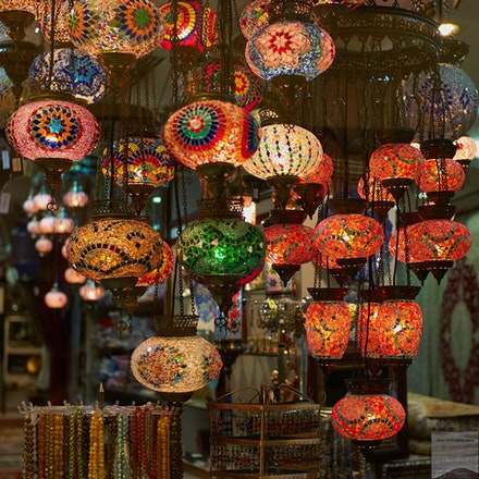 Lanterns in a mall - Abu Dhabi Mall