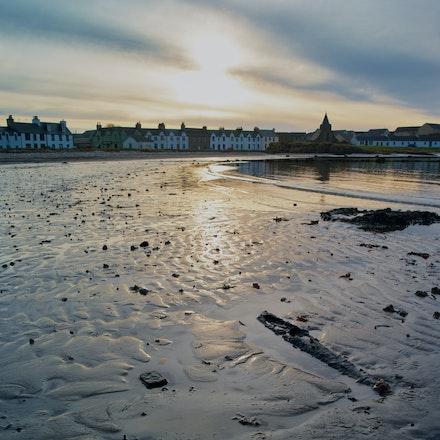 Port Ellen sunrise (portrait format) - Islay, P645D