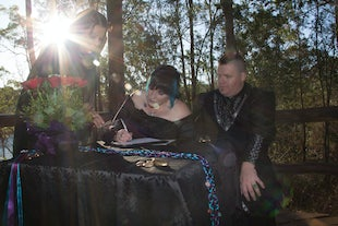 wedding ~ Travis & Kate - Walkabout Creek Handfasting