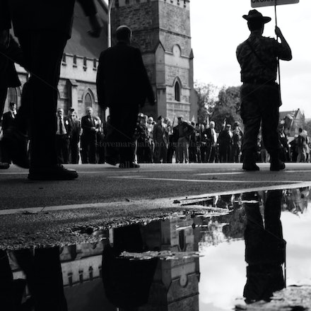 ANZAC 100th - Veterans attend the 2015 100th Anniversary ANZAC Parade in Adelaide, South Australia.