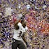 Number one! - James Ihedigbo (32) of the Baltimore Ravens celebrates after a 34-31 win against the San Francisco 49ers in Super Bowl XLVII at the Mercedes-Benz...