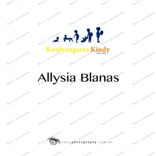 Koolyangarra Kindy -  Allysia Blanas
