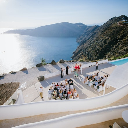 002 | Wedding ceremony in Santorini, Greek Islands - Copyright © 2015 Melissa Fiene Photography. All rights reserved. All images created by Melissa Fiene...