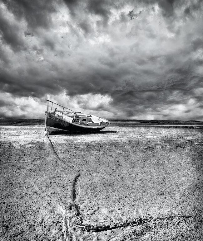 Stranded, Maaroom,Qld. - Mangrove flats, Wide Bay ,Qld.