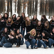 SJHS Cheer Team Photos 2011 - 2011 St. Johns High School Varsity Competitive Cheer - Playing in the snow!