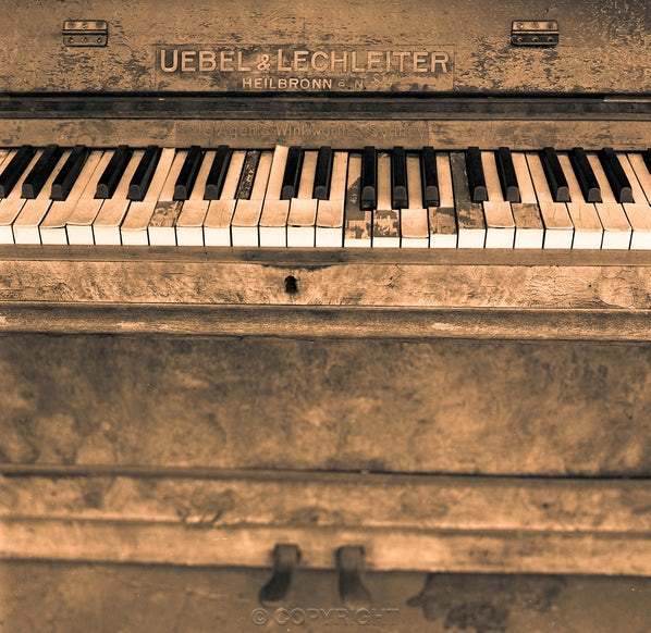 """The Piano - Each archival photograph is stamped and signed by Robert and a brief description of how it was taken. The options are as follows: - 16""""..."""