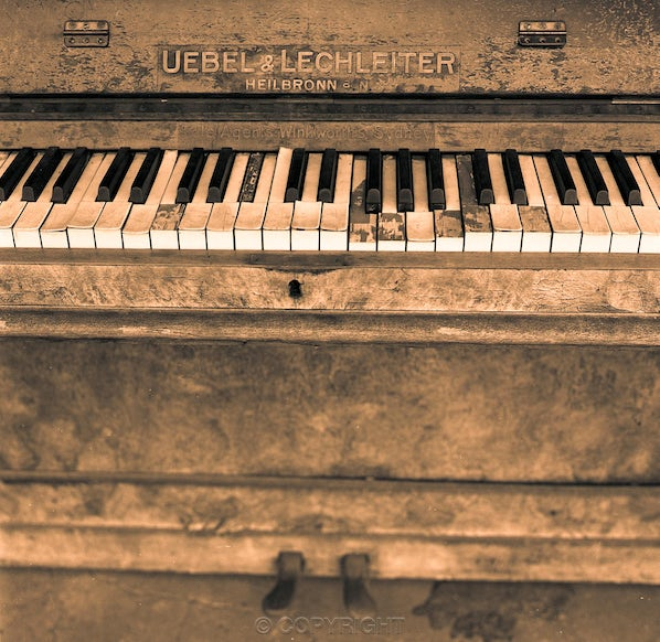 The Piano - Each archival photograph is stamped and signed by Robert and a brief description of how it was taken.