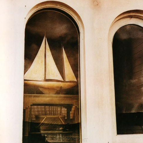 Yacht in the Bathers Pavilion Window Balmoral - Hand coloured with pastels .Each archival photograph is stamped and signed by Robert and a brief description...