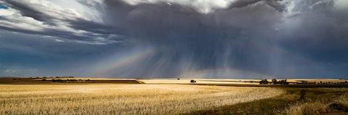 Somewhere Under The Rainbows - Goomalling-Meckering Road, looking SE toward Cunderdin, Western Australia.
