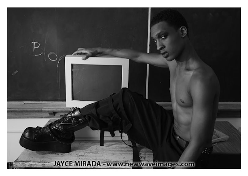 KT103809 - Signed Male Fashion Photo Art by Jayce Mirada
