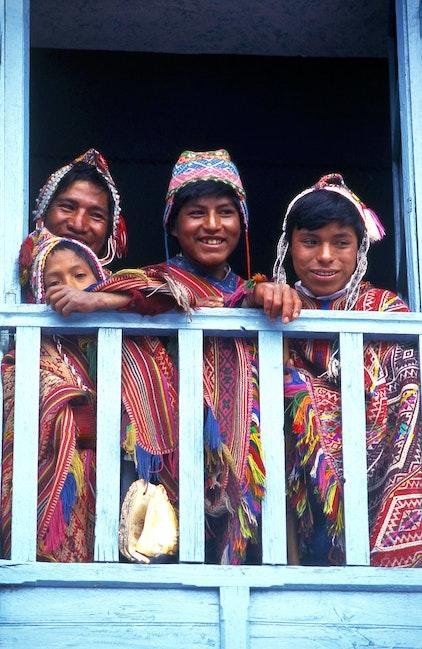 Boys at Pisac, Peru