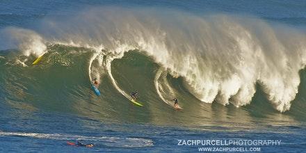 Waimea Wipeout - Location: Waimea Bay Date: January 2011  Time: 8:17 AM  ISO: 200  Shutter Speed: 1/200 sec.  Aperture: 11  Focal Length: 300mm