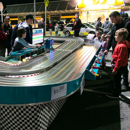 Slot cars - Having slot cars at a car show is definitely cool!