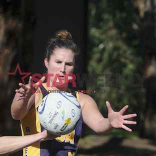 Rdnlruprom. RDFL A Grade Netball Rupertswood v Romsey - Pictures by Shawn Smits