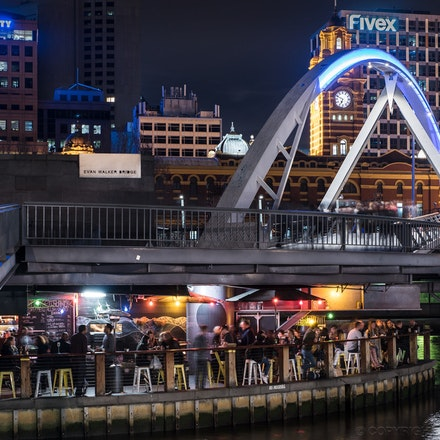 Evan Walker Bridge - Pony Fish Island under the Evan Walker Bridge, on the Yarra River Melbourne