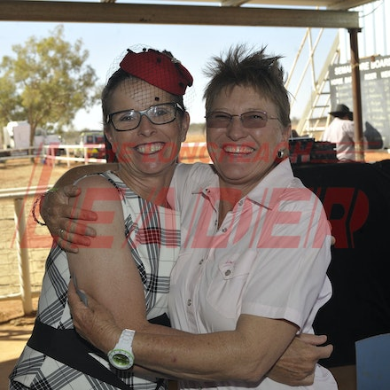 151003_SR22250 - Maureen Scott and Leesa Richardson at the Jundah Cup day races, Saturday October 3, 2015.  sr/Photo by Sam Rutherford
