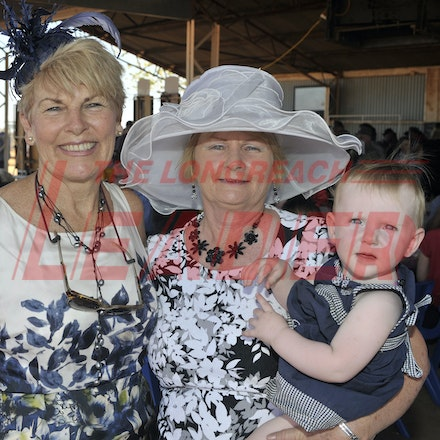 151003_SR22270 - Judy Baldry, Julie Groves and Abby Watts at the Jundah Cup day races, Saturday October 3, 2015.  sr/Photo by Sam Rutherford
