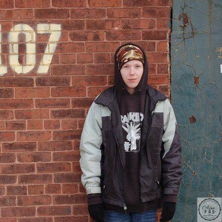 Chastity in Baltimore - This photo was taken during a break from a film we were working on in Baltimore.