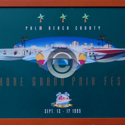 GRAND PRIX 1995 - The Palm Beach County offshore Powerboat Race Poster from 1995.  A beautiful, and very collectible poster. $10.00