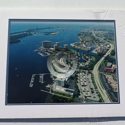 OLD PORT COVE 1997 - This 11 x 14 aerial is vacuum mounted with double mats and shrink wrapped.  Ready for a 14 x 18 frame!
