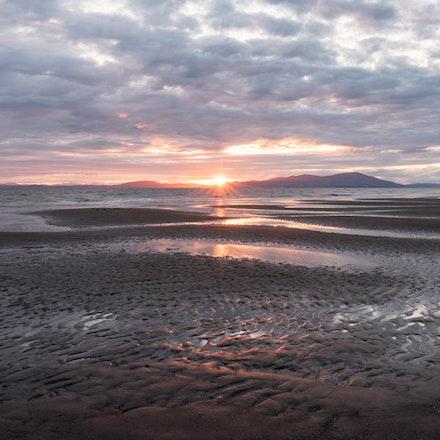 Beach sunset burst