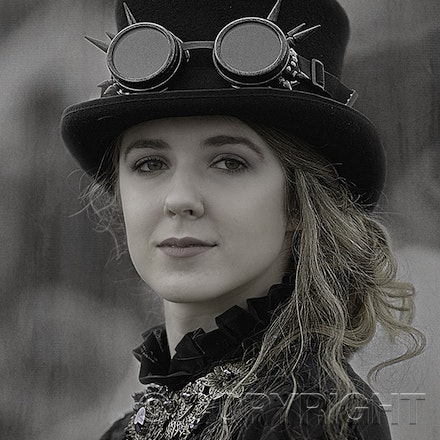 Fashion Photography - Elegant Lady - A young lady looking elegant at the Lithgow Ironfest day. We photographed and printed this image on Canson A3 Matt...