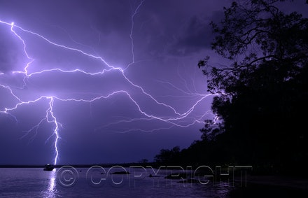 Night storm Lake Cootharaba
